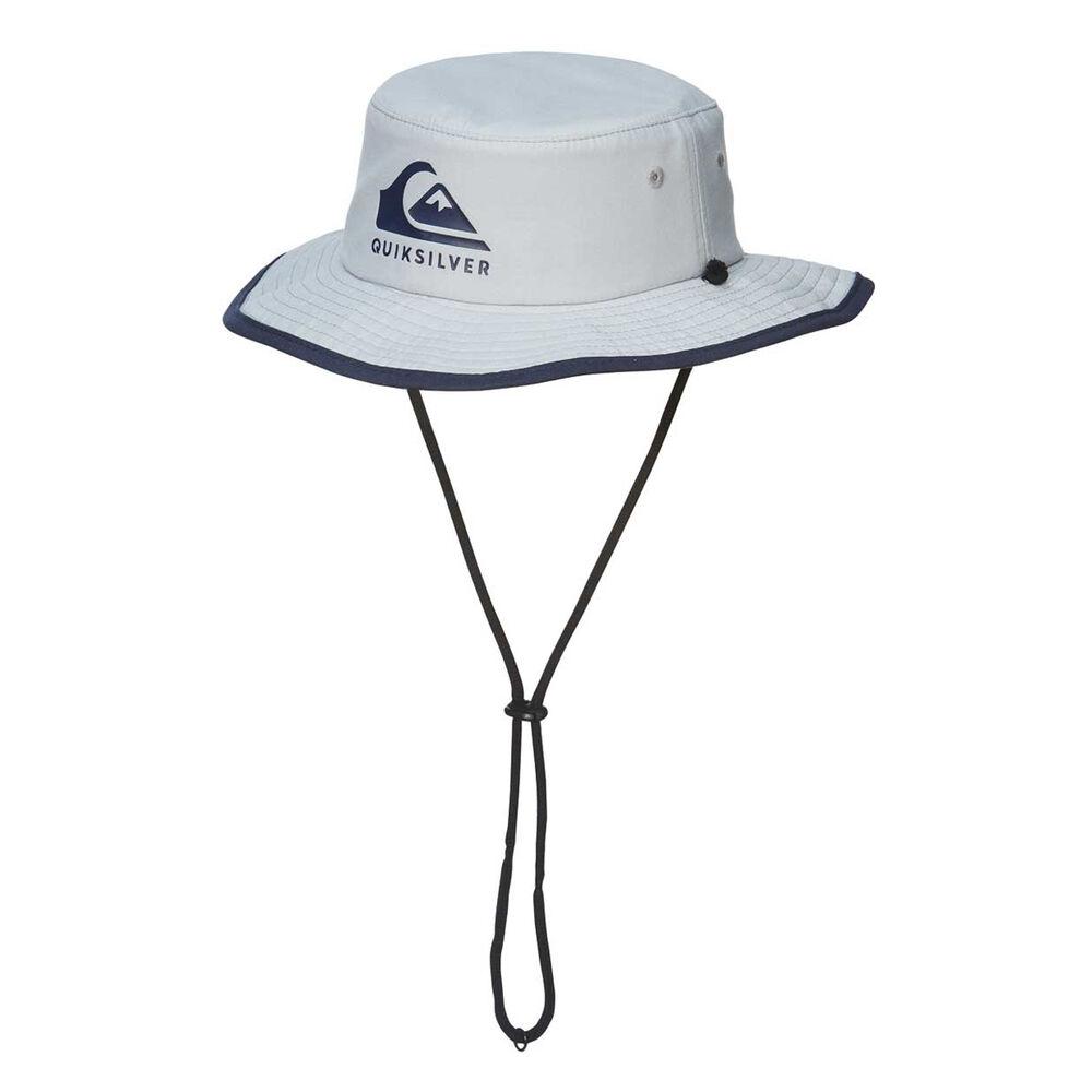 Quiksilver Boys Real Gel Bucket Cap White   Navy OSFA  84a64aa491a