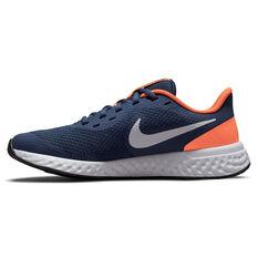 Nike Revolution 5 Kids Running Shoes Navy/White US 4, Navy/White, rebel_hi-res
