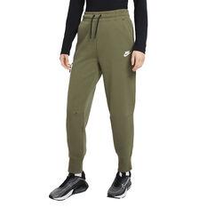 Nike Womens Sportswear Tech Fleece Pants Green XS, Green, rebel_hi-res