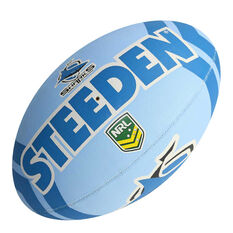Steeden NRL Cronulla-Sutherland Sharks Supporter Rugby League Ball, , rebel_hi-res