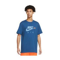 Nike Air Mens Sportswear Tee Blue XS, Blue, rebel_hi-res