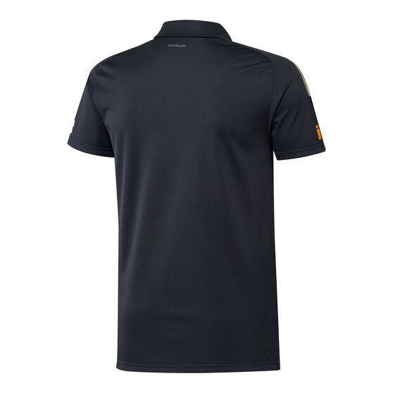 Hawthorn Hawks 2021 Mens Media Polo, Black, rebel_hi-res