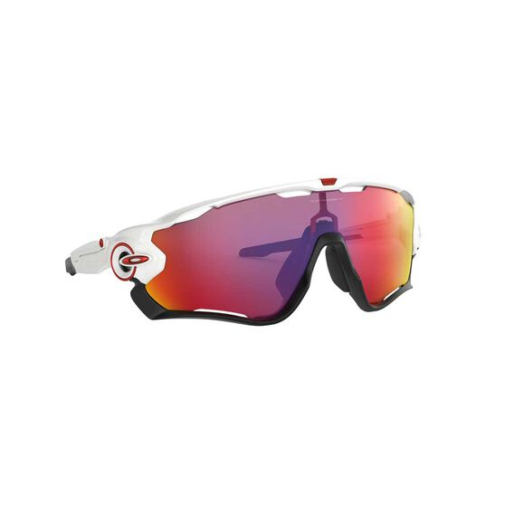 Oakley Jawbreaker Sunglasses Polished White / Prizm Road, Polished White / Prizm Road, rebel_hi-res
