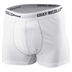 Gray Nicolls Junior Cricket Trunks White 8, White, rebel_hi-res