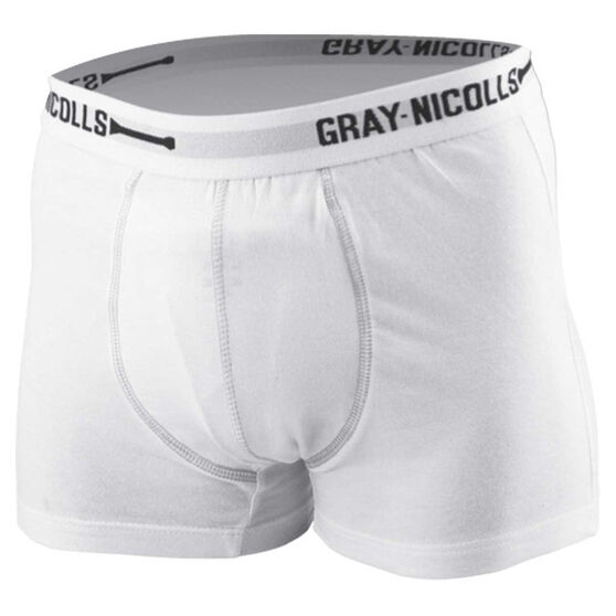 Gray Nicolls Junior Cricket Trunks, White, rebel_hi-res