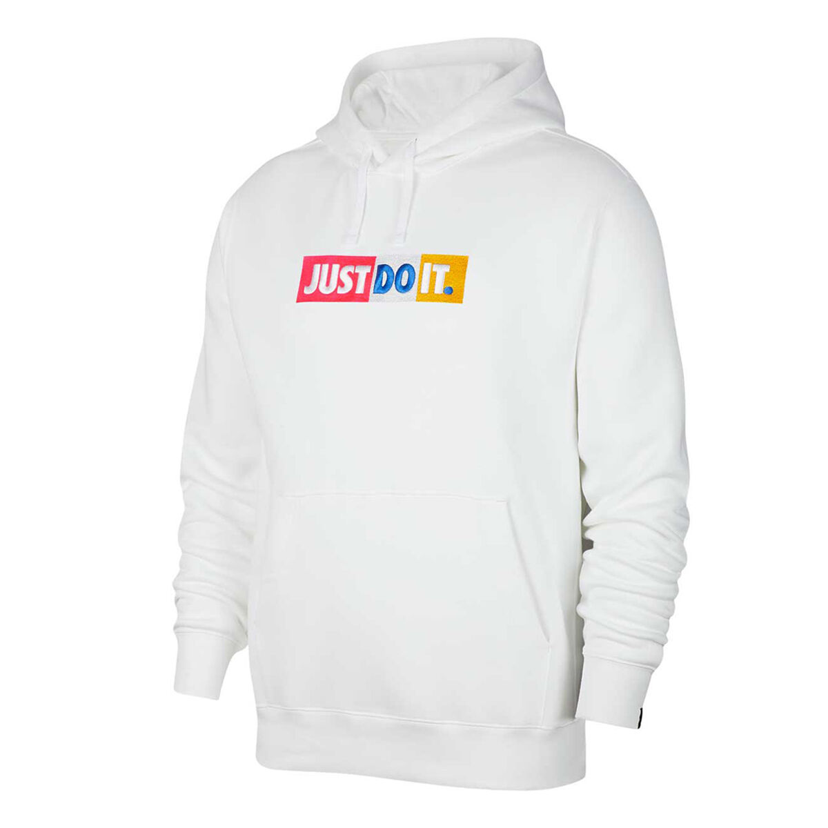 nike just do it hoodie white