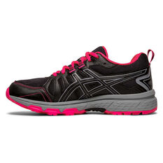 Asics GEL Venture 7 Kids Running Shoes Black / Pink US 1, Black / Pink, rebel_hi-res