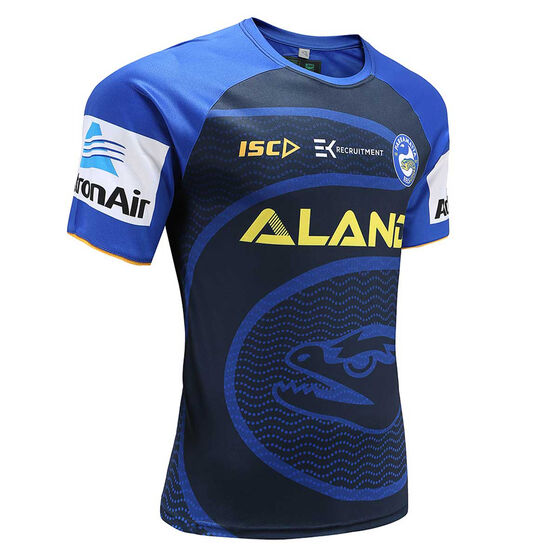 Parramatta Eels 2020 Mens Training Tee, Navy / Blue, rebel_hi-res