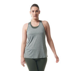 Ell & Voo Womens Jenny Colour Block Tank, Thyme, rebel_hi-res