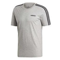 adidas Mens Essentials 3 Stripes Tee, Grey, rebel_hi-res