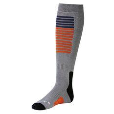 SVNT5 Mens Tech Socks Grey / Orange US 8 - 12, , rebel_hi-res