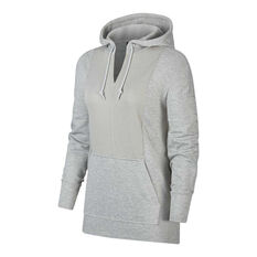 Nike Womens Yoga Luxe Hoodie Grey XS, Grey, rebel_hi-res
