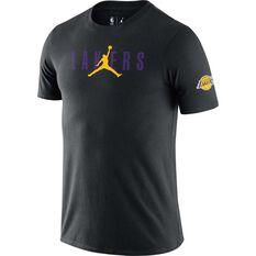 Los Angeles Lakers Courtside Mens Jordan NBA Tee Black S, Black, rebel_hi-res