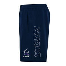 Melbourne Storm 2021 Kids Sports Shorts, Navy, rebel_hi-res