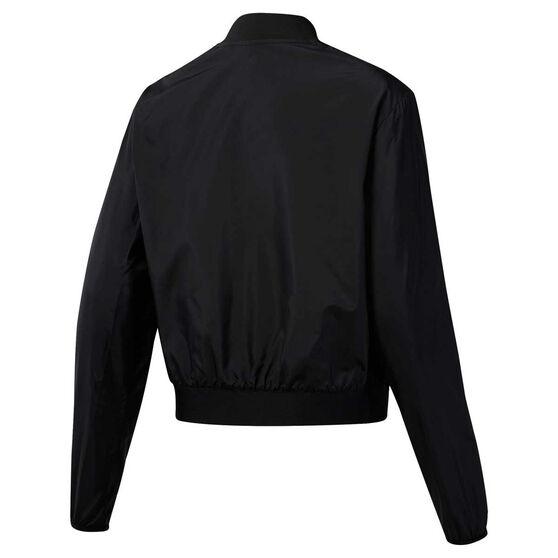 Reebok Womens Workout Ready Woven Jacket, Black, rebel_hi-res