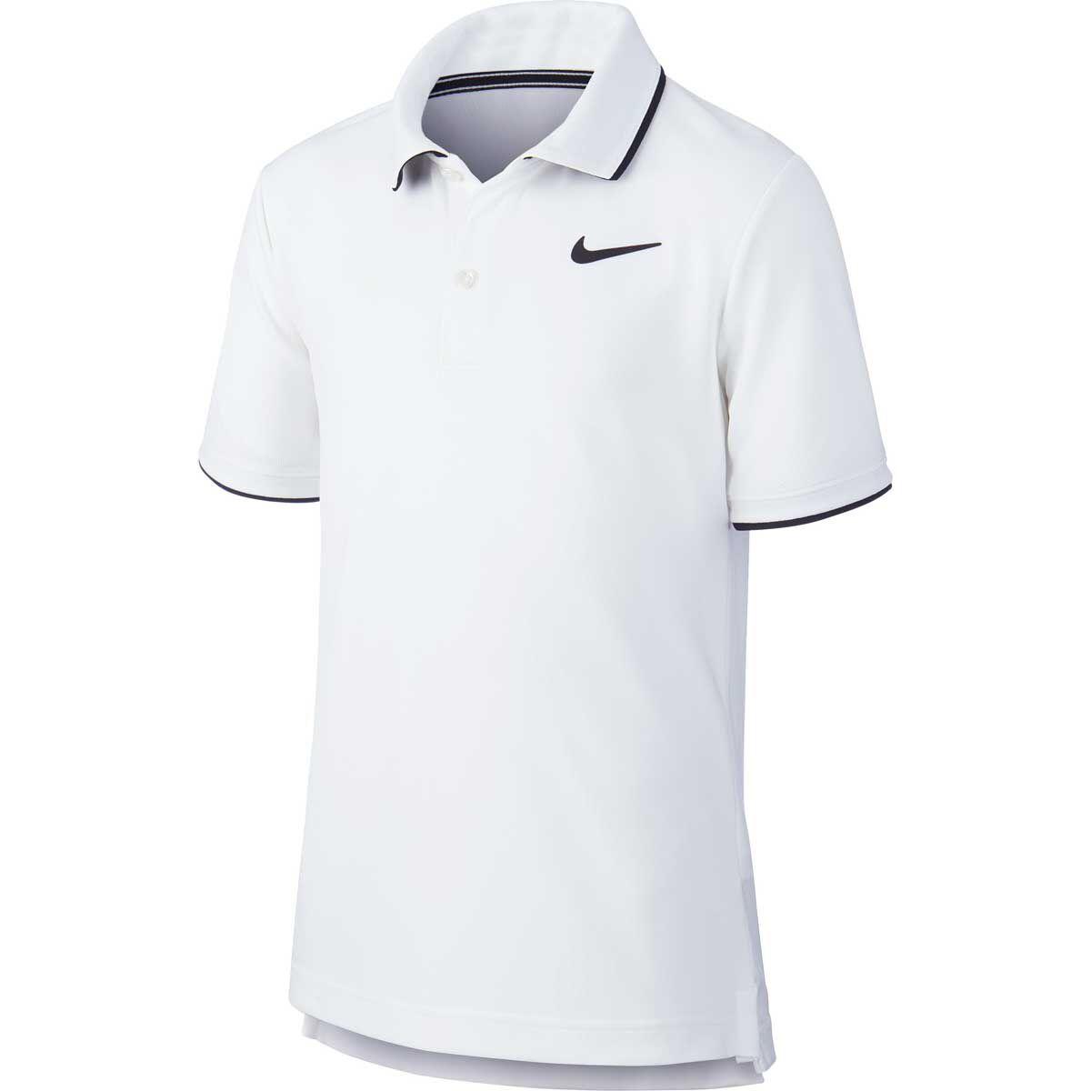 Nike Dri Fit Polo Shirt Blue and White 12 NWT Boy M 10