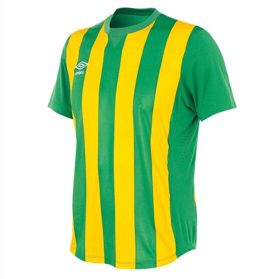 Umbro Mens Striped Jersey, Green / Gold, rebel_hi-res