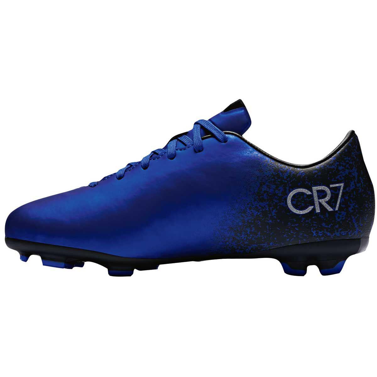 255664c8e ... spain nike mercurial victory v cr7 kids football boots blue silver us  10 junior blue 56547