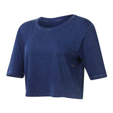 Ell & Voo Womens Rocky Cropped Tee Navy XS, Navy, rebel_hi-res
