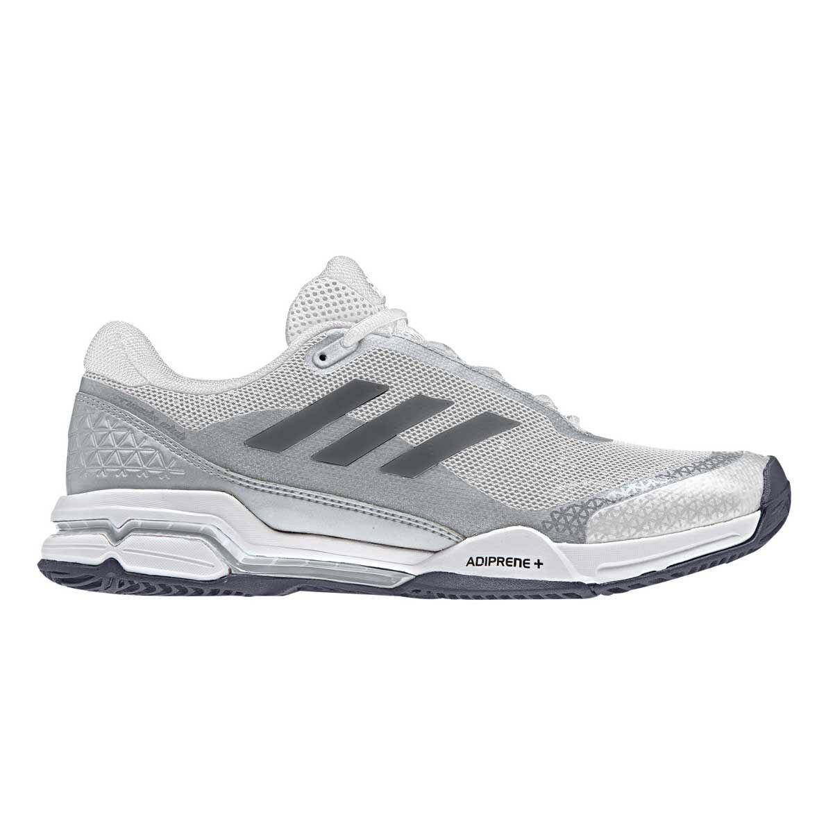 adidas Barricade Club Mens Tennis Shoes Black Silver US 7.5