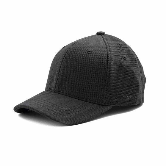 Flexifit Cool Dry Mesh Fitted Cap, Black, rebel_hi-res
