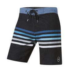 QuikSilver Mens Seasons 18in Board Shorts Black 30, Black, rebel_hi-res