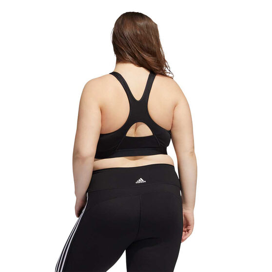 adidas Womens Believe This Sports Bra Plus, Black, rebel_hi-res