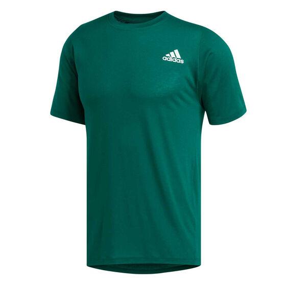 adidas Mens FreeLift Sport Prime Lite Tee, Green, rebel_hi-res