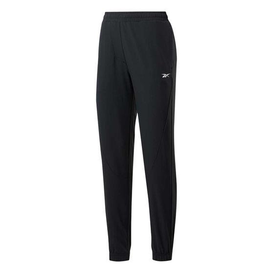 Reebok Womens Stretch Woven Pants, Black, rebel_hi-res