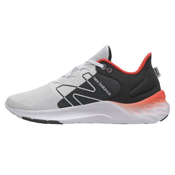 New Balance Fresh Foam Roav v2 Mens Running Shoes, White/Black, rebel_hi-res
