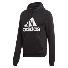 adidas Mens Must Haves Badge of Sport Fleece Hoodie Black S, Black, rebel_hi-res