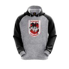 St George Illawarra Dragons 2019 Mens Hoodie Grey S, Grey, rebel_hi-res