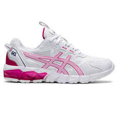 Asics GEL Quantum 90 2 Kids Casual Shoes White/Pink US 4, White/Pink, rebel_hi-res