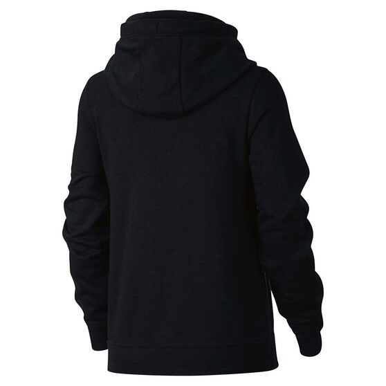 Nike Womens Funnel Neck Hoodie Black / White XS, Black / White, rebel_hi-res