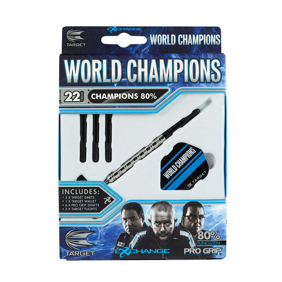 Target World Champions 80 Percent Tungsten Darts 24g, , rebel_hi-res