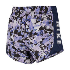 Nike Girls Dri-FIT Tempo Printed Running Shorts Blue XS, Blue, rebel_hi-res