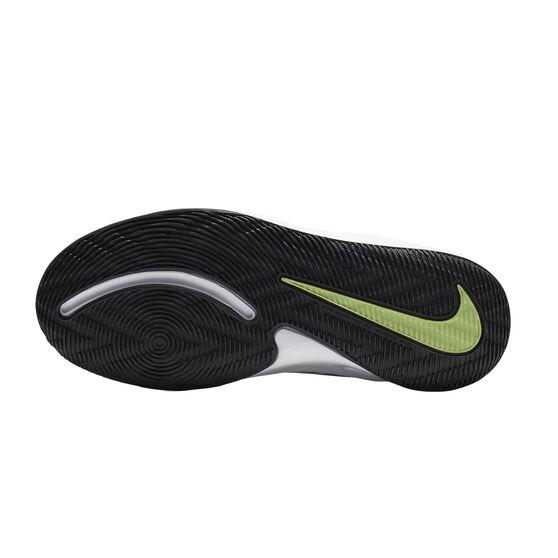 Nike Team Hustle D 9 Kids Basketball Shoes, White / Black, rebel_hi-res