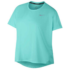 8c956a914060 Free Delivery Over  150. Nike Womens Miler Running Tee Plus Aqua XL