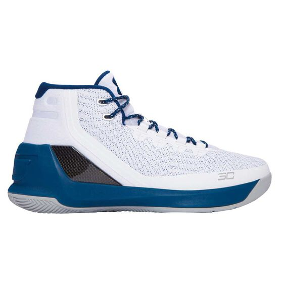Under Armour Curry 3 Mens Basketball Shoes White   Blue US 7  194e5155f