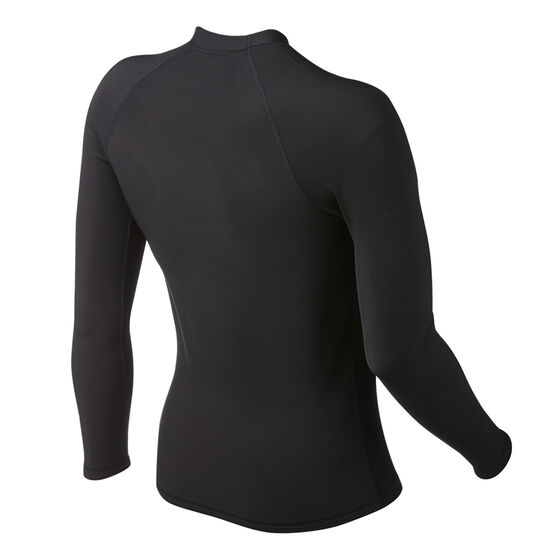 Quiksilver Mens Heater Long Sleeve Rash Vest, Black, rebel_hi-res