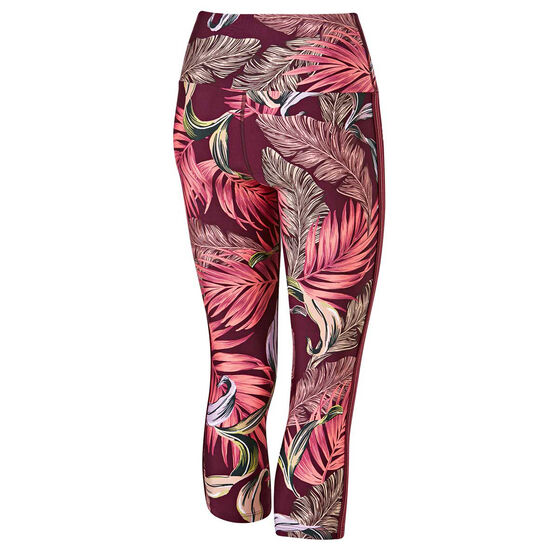 Running Bare Womens Christy Fight Club 7/8 Tights, Print, rebel_hi-res