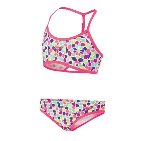 Speedo Girls Crop Set Two Piece Swimsuit, Rainbow, rebel_hi-res