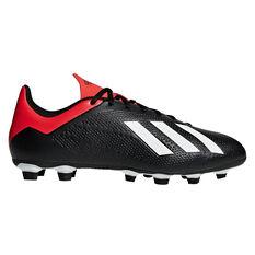 adidas X 18.4 Mens Football Boots Black / White US Mens 7 / Womens 8, Black / White, rebel_hi-res