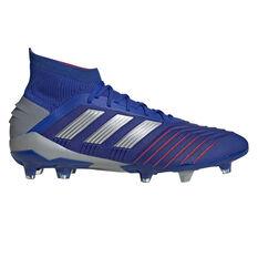 adidas Predator 19.1 Mens Football Boots Blue / Silver US Mens 7 / Womens 8, Blue / Silver, rebel_hi-res