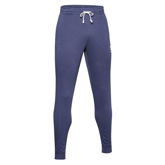 Under Armour Mens Terry Track Pants Blue S, Blue, rebel_hi-res