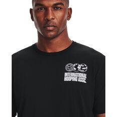 Under Armour Mens International Hoops Icon Tee, Black, rebel_hi-res
