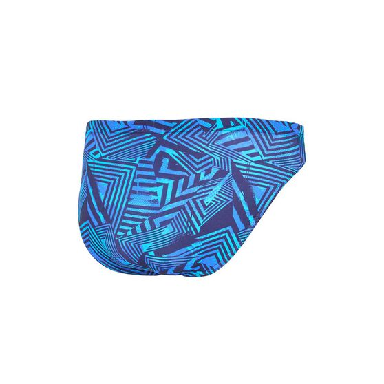 Zoggs Boys Wild Wave Racer Briefs, Blue, rebel_hi-res