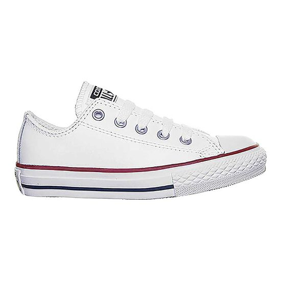 Converse Chuck Taylor All Star Lean Kids Casual Shoes, White / Red, rebel_hi-res