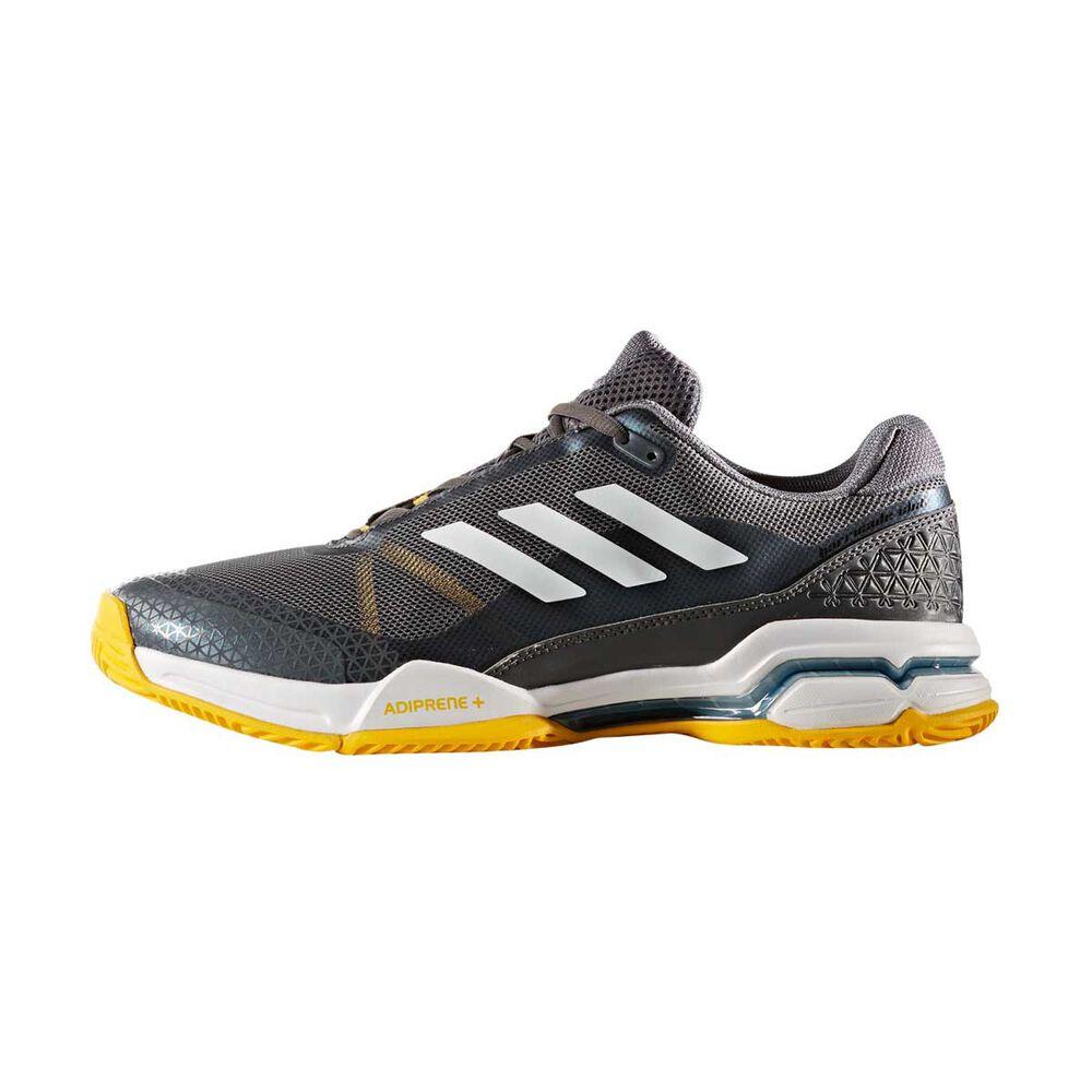 best cheap 06f33 4bdd3 adidas Barricade Club Mens Tennis Shoes Black   White US 8.5, Black   White,