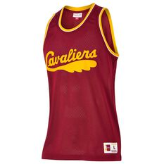 Mitchell and Ness Mens Cleveland Cavaliers Mesh Tank Burgundy S, Burgundy, rebel_hi-res